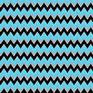 Aqua Black Chevron by gretzky