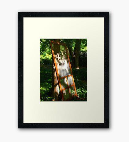Screen Lean Framed Print
