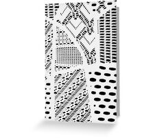 White Lace Pattern Geometric Shapes Designs Fashionable Textile, back to school Greeting Card