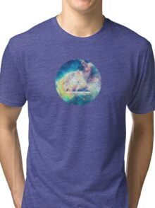 Awsome collosal deep space triangle art sign Tri-blend T-Shirt