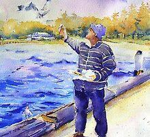 Feeding the Seagulls by Christine Lacreole