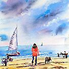 Watching sailors Frankston by Christine Lacreole