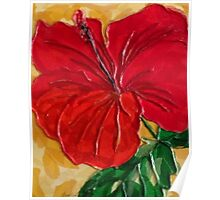 RED HOT Hibiscus Poster