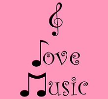 I Love Music - Punk Pink by moonshinepdise