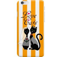 Love Cats Wedding iPhone Case/Skin