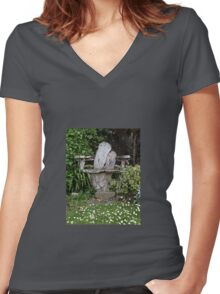 Come Sit Women's Fitted V-Neck T-Shirt