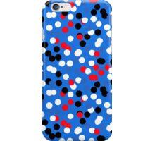 Festive confetti print in bright blue colors iPhone Case/Skin