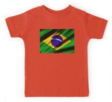 brazil flag Kids Tee