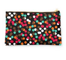Festive confetti print in bright red black orange colors Studio Pouch