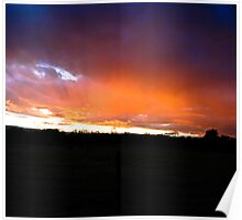 Sunset Streaks - California Poster
