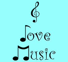 I Love Music - Techno Turquoise by moonshinepdise