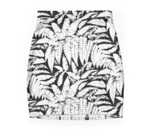 Tropical print in black and white with fern leaves Pencil Skirt