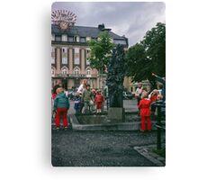Children at Pan fountain Trondheim Norway 19840622 0006m  Canvas Print