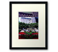 Plaza Hotel/Fountain, NYC, NY Framed Print