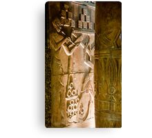 Tomb Carvings Canvas Print