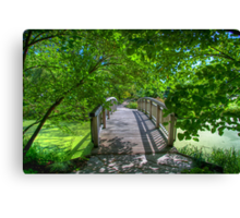 Shady Footbridge Canvas Print