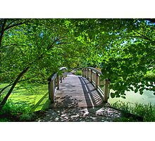 Shady Footbridge Photographic Print