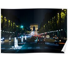Avenue des Champs-Elysees from Concorde Poster