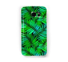 Tropical print in multiple green colors with fern and palm leaves Samsung Galaxy Case/Skin