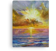 Caribbean Sunset Canvas Print