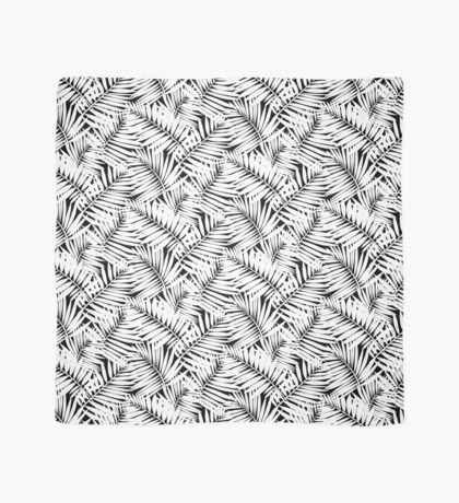 Tropical print in black and white with palm leaves Scarf
