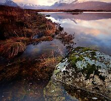 Black Mount from Loch Ba, Rannoch Moor by David Mould