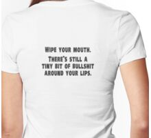 385 Wipe Your Mouth Womens Fitted T-Shirt