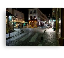 Streets of Montmartre Canvas Print