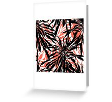 Bold tropical print with palm leaves on pink background Greeting Card