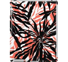 Bold tropical print with palm leaves on pink background iPad Case/Skin