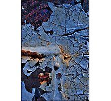 Cracking Blue Photographic Print