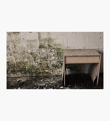 Placed Against The Moldy Wall Photographic Print