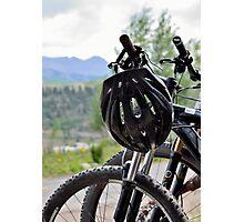 Mountain Bike Breaktime Photographic Print