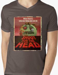 Shoot for the Head Mens V-Neck T-Shirt