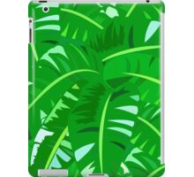 Bright tropical floral print with big banana palm leaves iPad Case/Skin