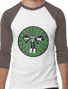 Microbot - Green Men's Baseball ¾ T-Shirt