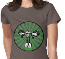 Microbot - Green Womens Fitted T-Shirt