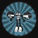 Microbot - Blue Ice by Phantom Spaceship Design