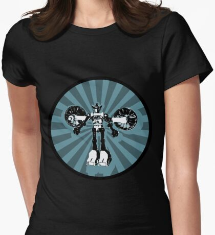 Microbot - Blue Ice Womens Fitted T-Shirt