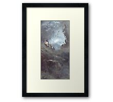 Clear quartz - the cross and the light Framed Print