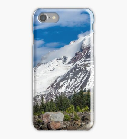 Mt Hood From White River iPhone Case/Skin