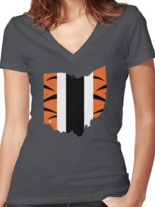 #WhoDey Women's Fitted V-Neck T-Shirt