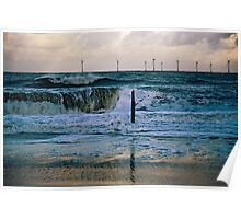 Rough Sea Caister Wind Farm  Poster