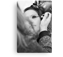 Make up Session Canvas Print