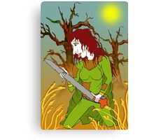 Sword Woman of the Old Forest Canvas Print