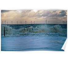 Rough Sea Caister Wind Farm 3 Poster