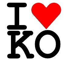 I Heart KO Photographic Print