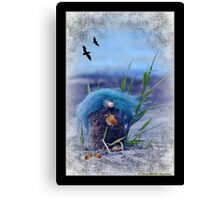 """I hide the nuts from the birds"" Canvas Print"
