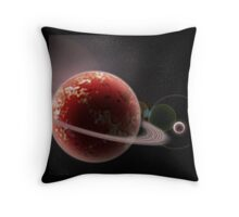 Ringed Red Throw Pillow