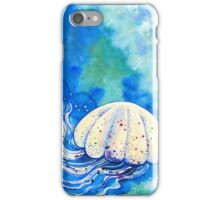 Jellyfish flowing in the sea iPhone Case/Skin